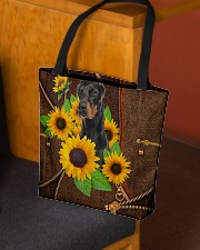 DOBERMAN AND SUNFLOWER BAG All-over Tote aos-all-over-tote-lifestyle-front-02