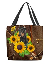 DOBERMAN AND SUNFLOWER BAG All-over Tote front