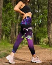 BUTTERFLY FLOWER High Waist Leggings aos-high-waist-leggings-lifestyle-20