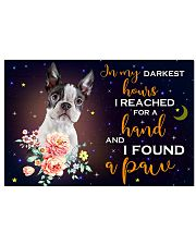 BOSTON TERRIER  - I FOUND A PAW POSTER 17x11 Poster front