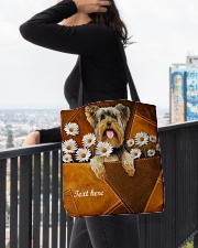 YORKIE CLOTH TOTE-ACCESSORY POUCH-PILLOW All-over Tote aos-all-over-tote-lifestyle-front-05