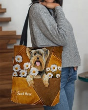 YORKIE CLOTH TOTE-ACCESSORY POUCH-PILLOW All-over Tote aos-all-over-tote-lifestyle-front-09