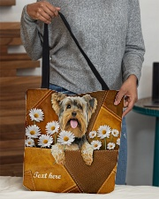 YORKIE CLOTH TOTE-ACCESSORY POUCH-PILLOW All-over Tote aos-all-over-tote-lifestyle-front-10