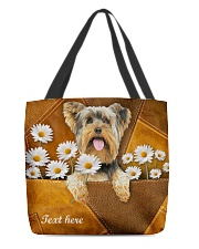 YORKIE CLOTH TOTE-ACCESSORY POUCH-PILLOW All-over Tote front