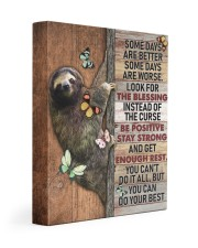 SLOTH - CANVAS YOU CAN DO YOUR BEST 11x14 Gallery Wrapped Canvas Prints front