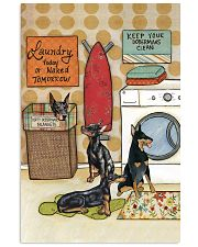 LAUNDRY DOBERMAN POSTER 11x17 Poster front