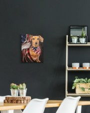 DACHSHUND CANVAS WITH USA FLAG 11x14 Gallery Wrapped Canvas Prints aos-canvas-pgw-11x14-lifestyle-front-04