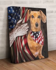 DACHSHUND CANVAS WITH USA FLAG 11x14 Gallery Wrapped Canvas Prints aos-canvas-pgw-11x14-lifestyle-front-07