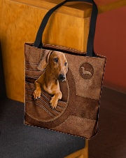 DACHSHUND CLOTH TOTE-ACCESSORY POUCH-PILLOW All-over Tote aos-all-over-tote-lifestyle-front-02