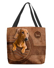 DACHSHUND CLOTH TOTE-ACCESSORY POUCH-PILLOW All-over Tote front