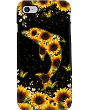 DOLPHIN AND SUNFLOWER PHONE CASE Phone Case i-phone-8-case