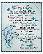 "Dolphin - To my Mom Fleece Blanket - 50"" x 60"" front"