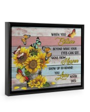 BUTTERFLY CANVAS - WHEN YOU BELIEVE 14x11 Black Floating Framed Canvas Prints front