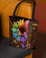 TURTLE SUNFLOWER BAG All-over Tote aos-all-over-tote-lifestyle-front-02