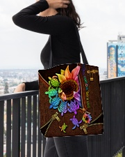 TURTLE SUNFLOWER BAG All-over Tote aos-all-over-tote-lifestyle-front-05