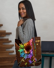 TURTLE SUNFLOWER BAG All-over Tote aos-all-over-tote-lifestyle-front-08
