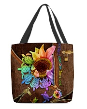 TURTLE SUNFLOWER BAG All-over Tote front
