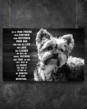 YORKIE HE IS YOUR FRIEND POSTER 17x11 Poster aos-poster-landscape-17x11-lifestyle-12