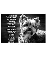 YORKIE HE IS YOUR FRIEND POSTER 17x11 Poster front