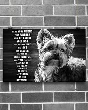 YORKIE HE IS YOUR FRIEND POSTER 17x11 Poster poster-landscape-17x11-lifestyle-18