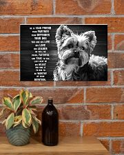 YORKIE HE IS YOUR FRIEND POSTER 17x11 Poster poster-landscape-17x11-lifestyle-23