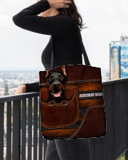 DOBERMAN MAMA CLOTH BAG All-over Tote aos-all-over-tote-lifestyle-front-05