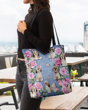 SHIHTZU AND FLOWER BAG All-over Tote aos-all-over-tote-lifestyle-front-04