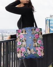 SHIHTZU AND FLOWER BAG All-over Tote aos-all-over-tote-lifestyle-front-05