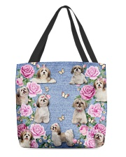 SHIHTZU AND FLOWER BAG All-over Tote back
