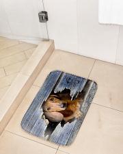"DACHSHUND BATH MAT-DOORMAT-POSTER-CANVAS Bath Mat - 24"" x 17"" aos-accessory-bath-mat-24x17-lifestyle-front-02"