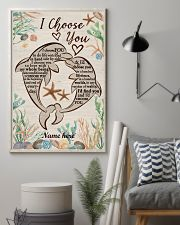 I Choose You Custom dolphin poster 11x17 Poster lifestyle-poster-1