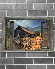 DACHSHUND AT WINDOWS POSTER 17x11 Poster poster-landscape-17x11-lifestyle-18