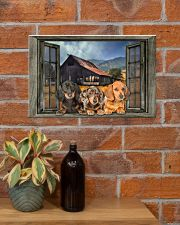DACHSHUND AT WINDOWS POSTER 17x11 Poster poster-landscape-17x11-lifestyle-23