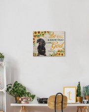 DACHSHUND - BE STILL AND KNOW THAT I AM GOD CANVAS 14x11 Gallery Wrapped Canvas Prints aos-canvas-pgw-14x11-lifestyle-front-03