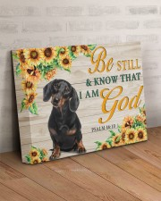DACHSHUND - BE STILL AND KNOW THAT I AM GOD CANVAS 14x11 Gallery Wrapped Canvas Prints aos-canvas-pgw-14x11-lifestyle-front-07