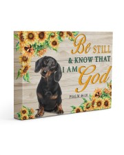 DACHSHUND - BE STILL AND KNOW THAT I AM GOD CANVAS 14x11 Gallery Wrapped Canvas Prints front