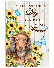 DACHSHUND - A HOUSE WITHOUT A DOG IS 11x17 Poster front