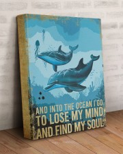 DOLPHIN - AND INTO THE OCEAN I GO TO LOSE MY MIND 11x14 Gallery Wrapped Canvas Prints aos-canvas-pgw-11x14-lifestyle-front-07