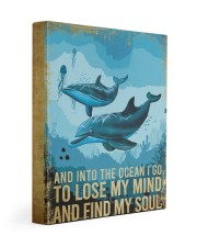 DOLPHIN - AND INTO THE OCEAN I GO TO LOSE MY MIND 11x14 Gallery Wrapped Canvas Prints front