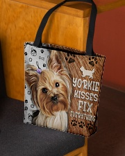 YORKIE KISSES FIX EVERYTHING BAG All-over Tote aos-all-over-tote-lifestyle-front-02
