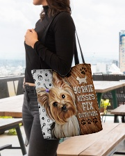 YORKIE KISSES FIX EVERYTHING BAG All-over Tote aos-all-over-tote-lifestyle-front-04