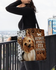YORKIE KISSES FIX EVERYTHING BAG All-over Tote aos-all-over-tote-lifestyle-front-05