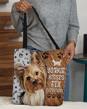 YORKIE KISSES FIX EVERYTHING BAG All-over Tote aos-all-over-tote-lifestyle-front-10