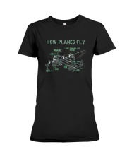 How Planes Fly Funny Aerospace Engineer Pilot T Sh Premium Fit Ladies Tee thumbnail