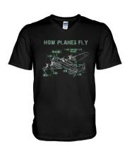 How Planes Fly Funny Aerospace Engineer Pilot T Sh V-Neck T-Shirt thumbnail