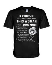 5 Things Dog Mom V-Neck T-Shirt thumbnail
