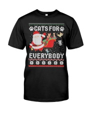 Cats For Everybody Christmas Classic T-Shirt front