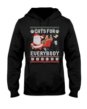 Cats For Everybody Christmas Hooded Sweatshirt thumbnail