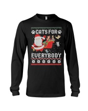 Cats For Everybody Christmas Long Sleeve Tee thumbnail
