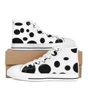 polkadot high tops Women's High Top White Shoes inside-left-outside-left